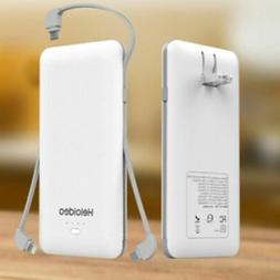 Heloideo 10000mAh Portable Charger Compact Power Bank Extern