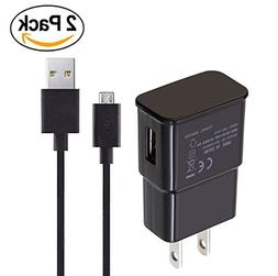 2 Pack Power Adapter Charger Cord for Amazon Fire TV Stick,