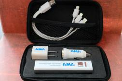 Cell Phone Portable Battery Charger COMPLETE KIT WITH CAR &