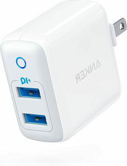 Anker Dual USB Wall Charger PowerPort II IQ 24W with 2 PiQ P