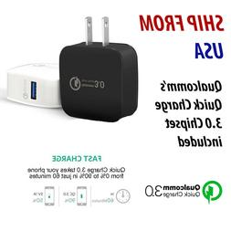 QC 3.0 Wall Charger Power Adapter Super Fast Charging US Plu