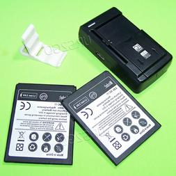 2x 3200mAh Standard Rechargeable Spare Battery Wall Travel C