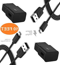 Samsung Galaxy Note 8 Fast Charger 10 FEET Combo Kit. - {2 T
