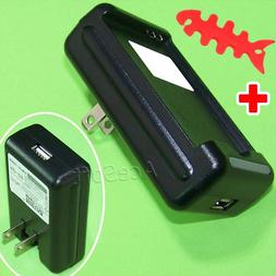 Travel Dock Wall Home USB/AC Battery Charger for Samsung Ga