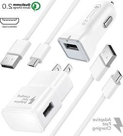 Galaxy S7 Edge Fast Charger Combo Kit {Wall Charger + Car Ch