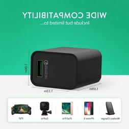 Seneo USB Wall Charger QC 3.0 2.4A 18W Wireless Travel for i