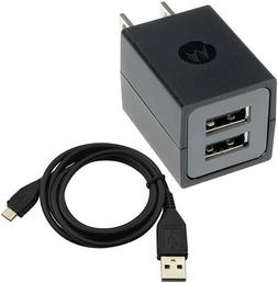 Motorola SPN5689A OEM Dual Port Universal Wall Charger with