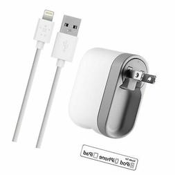 Swivel Home Charger 2.1A w/1.2m Lightning Cable
