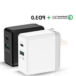 Travel Wall Charger Quick Charge USB Type C Port Fast 29W PD