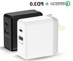 Travel Wall Quick Charge USB Type C Fast 29W PD QC 3.0 for i