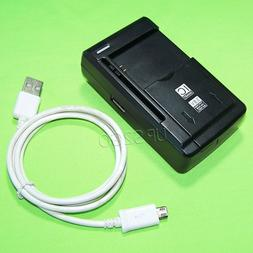 Brand New Universal Travel Desktop Wall AC Battery Charger