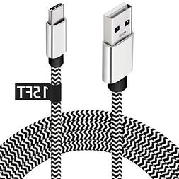 USB Type C Charger Cable,15FT Long USB C Cable for Google Pi
