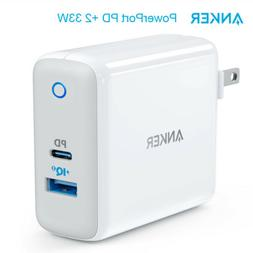 USB C Charger, Anker PowerPort Speed+2  total 33W Wall Charg