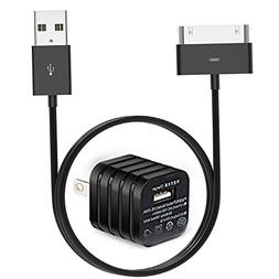 USB Charger, Usb Wall Plug Adapter with 10ft USB 30 Pin Cabl