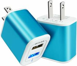 USB Plug in Wall Charger, Charging Block, 2Pack Ailkin 2.1A