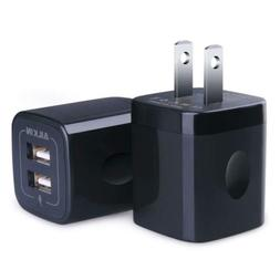 USB Wall Charger, Ailkin 2.1A Dual Port Portable Universal C