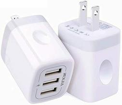 USB Wall Charger, Ailkin 3.1A/3-Port Quick Charging Adapter
