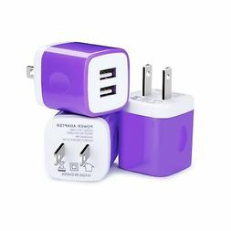 USB Wall Charger, Kakaly 3-Pack Charger Brick,Phone Cube,USB
