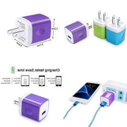 USB Wall Charger, Kakaly 3-Pack Universal Home Travel 1 Amp