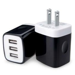 Kakaly USB Wall Charger Block, 2-Pack 3.1Amp Power Adapter B