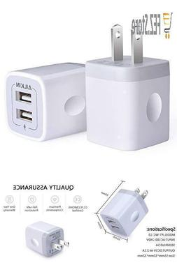 USB Wall Charger, Charger Adapter, Ailkin 2-Pack 2.1Amp Dual