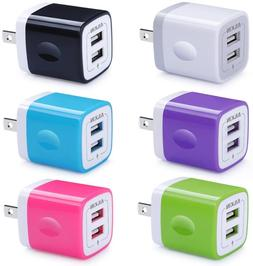 USB Wall Charger, Charger Adapter, Ailkin 6-Pack 2.1Amp Dual