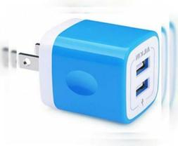 USB Wall Charger, Charger Block, Ailkin 2.1A Multiport Fast