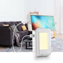 USB Wall Charger, 4 - AC Power Outlet Adapter Plug + Quick C