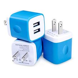 USB Wall Charger,Dual USB Travel AC Adapter Rapid Charger Bl
