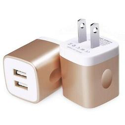 USB Wall Charger, Kakaly UL Certified 2-Pack 2.1A/5V USB Plu