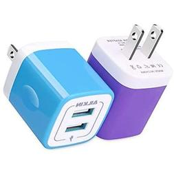 USB Wall Chargers Charger, Adapter, Ailkin 2-Pack 2.1Amp Dua
