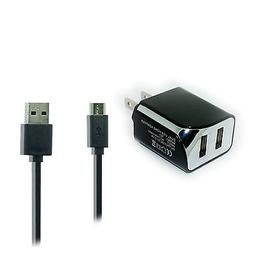 2.1A Wall Charger+USB Cord for TMobile Samsung Galaxy Grand