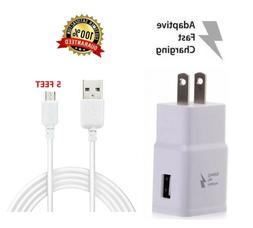 Wall charger + 5FT Micro USB Charging cable for Amazon Kindl