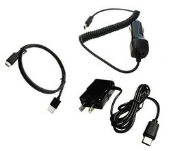 Car Charger + Wall Charger + Type C USB 3.1 for BlackBerry K