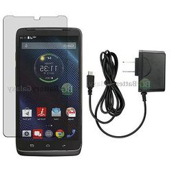 NEW Wall Charger+LCD HD Screen Protector for Android Phone M