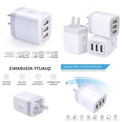 Wall Charger Usb Charger Adapter Ailkin 3.1A 3Pack Muti Port