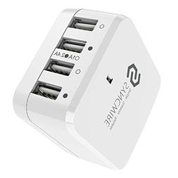 Syncwire 34W/6.8A 4-Port USB Wall Charger, Travel Wall Charg