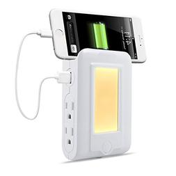 USB Wall Charger Charging Station, TryLight Power Strip with