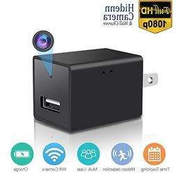 Wifi Wall Charger Mini Camera - 1080P HD P2P Wireless Wifi V